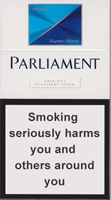 Parliament Super Slims Aqua Cigarette Pack