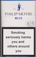 Philip Morris Blue Cigarette Pack