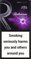 Rothmans Royals Demi Click Purple Cigarette Pack