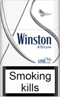 Winston XStyle Silver Cigarette Pack