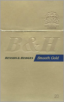Benson & Hedges Smooth Gold Cigarette Pack