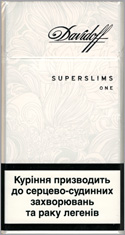 Davidoff Super Slims One (White) 100`s Cigarette Pack