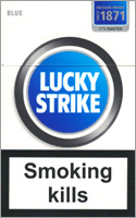 Lucky Strike Lights (Blue) Cigarette Pack