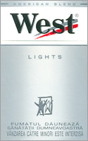 West Stream Tec Lights (Silver) Cigarette Pack