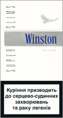 Winston Super Slims Silver 100`s Cigarette Pack