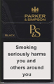 Parker & Simpson Black Cigarette pack