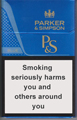 Parker & Simpson Blue Cigarette pack