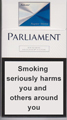 Parliament Super Slims Silver Cigarette pack