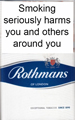 Rothmans King Size Blue Cigarette pack