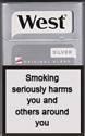 West Silver Cigarette pack