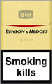 Benson & Hedges Gold Cigarette pack