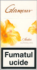 Glamour Super Slims Amber 100's Cigarette pack