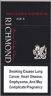 Richmond Masculine Super Slims 100s Cigarette pack