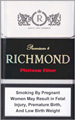 Richmond Platinum Filter Cigarette pack