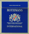 Rothmans International Cigarette pack