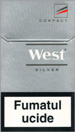West Silver Compact Cigarette pack