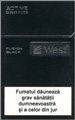 West Black Fusion Cigarette pack
