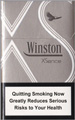 Winston XSence White(mini) Cigarette pack