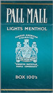 PALL MALL LIGHT MEN BOX 100